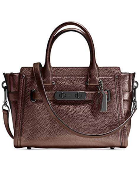Coach Bag Macys by Coach Swagger 27 In Pebble Leather Handbags Accessories Macy S