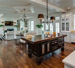 Open Kitchen Floor Plans With Islands Home Sweet Home Kitchen And Dining On Country Kitchens Traditional Kitchens