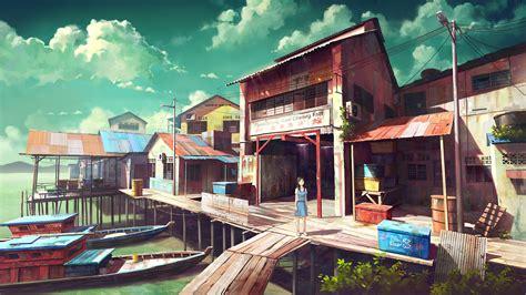 anime village wallpaper download brunettes water wallpaper 2499x1406 wallpoper