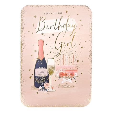 birthday cheers birthday card birthday cheers in pink