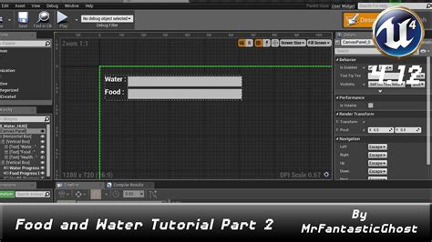 youtube tutorial unreal unreal engine 4 tutorial quot food and water hud quot part 2 4