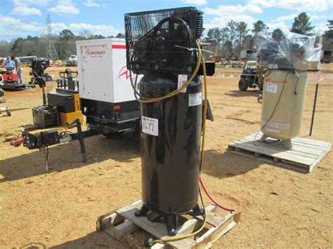 us general us560v air compressor s n hop607535 electric 60 gal tank j m wood auction