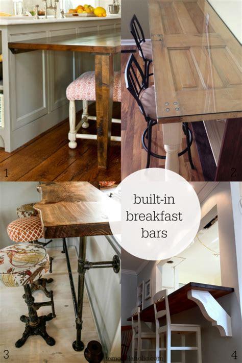 Diy Breakfast Bar Table Remodelaholic Diy Built In Breakfast Bar Dining Table