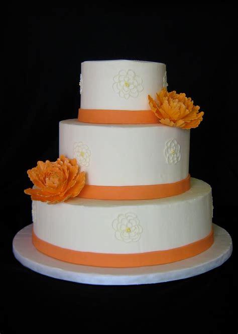 Hochzeitstorte Orange by Sublime Bakery Orange Peonies Wedding Cake