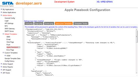 json template json template apple passbook customisation guide api