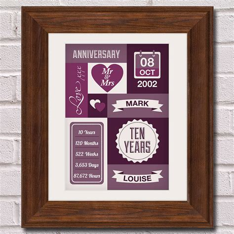 10th wedding anniversary ideas 10th wedding anniversary gifts for him nz lamoureph