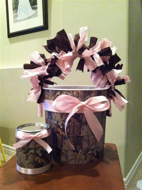 Pink Camo Baby Shower Decorations pink camo decorations buckets baby shower for