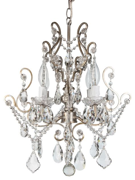 theresa chandeliers theresa 4 light wrought iron chandelier silver