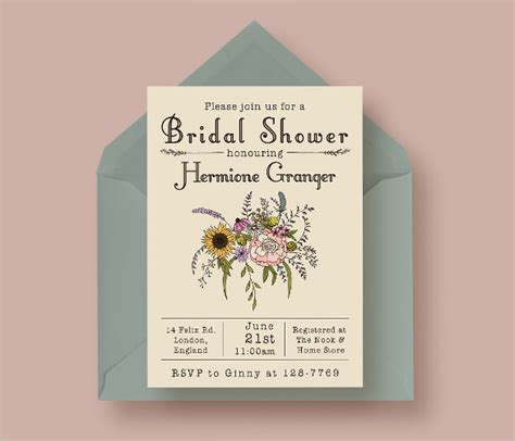 25 Bridal Shower Invitation Templates Download Free Documents In Pdf Psd Vector Wedding Shower Invitation Template