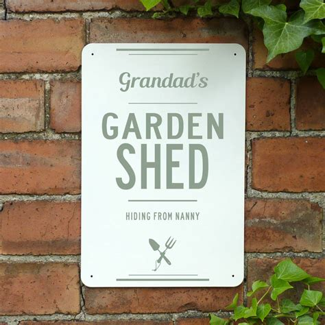 Personalised Signs For Sheds by Personalised Metal Garden Shed Sign By Delightful Living