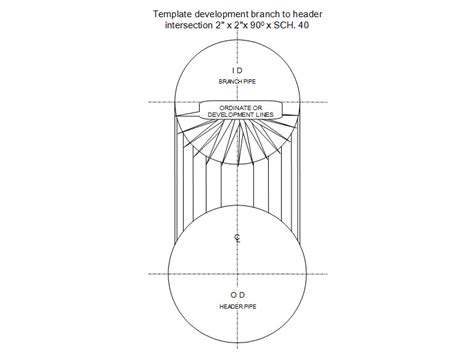 pipe templates right angled branch intersection fabeasy pipe template