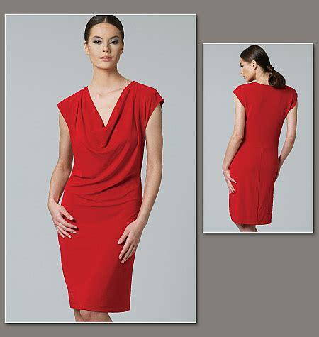jersey dress pattern vogue vogue patterns 1250 misses dress sewing pattern