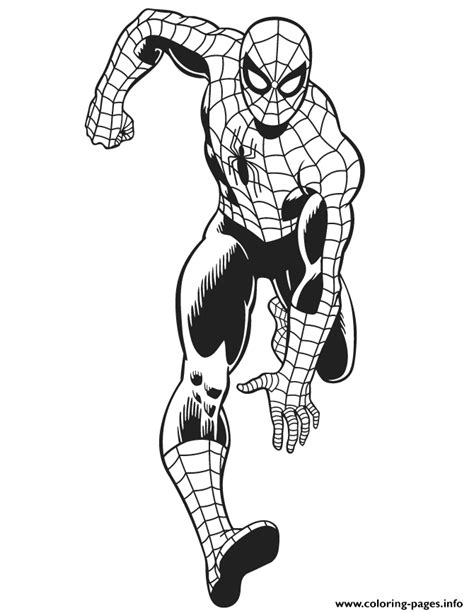 marvel coloring pages spiderman marvel comics the amazing spider man for kids colouring
