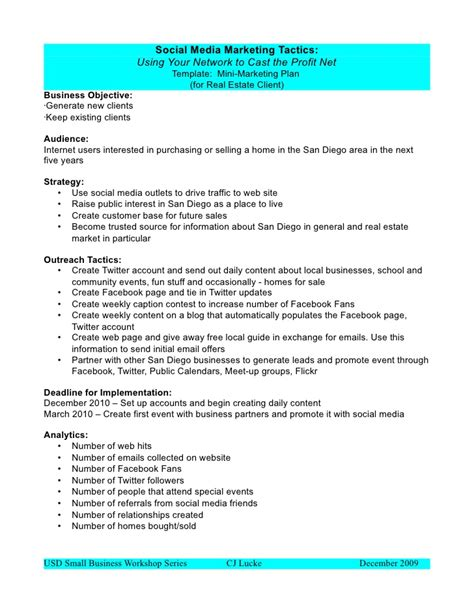 social media marketing business plan template social media marketing plan template best business template