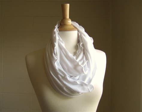 white infinity scarf infinity scarf white jersey on luulla