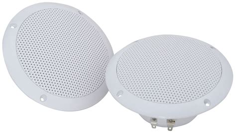 Moisture Resistant Ceiling Speakers by Water Resistant 13cm 5 Inches 80w Max 8 Ohms White