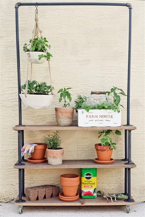 diy rolling garden plant shelf home fresh mommy blog