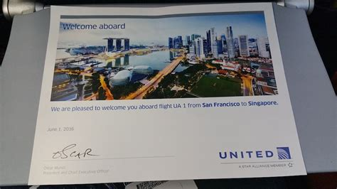 oscar munoz united ceo trip report flight united 1 ua1 san francisco ca sfo to singapore sin in 25 photos