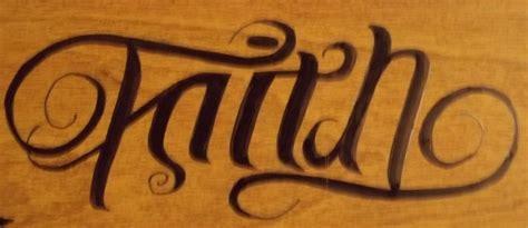 ambigram faith trust by maplr20 on deviantart