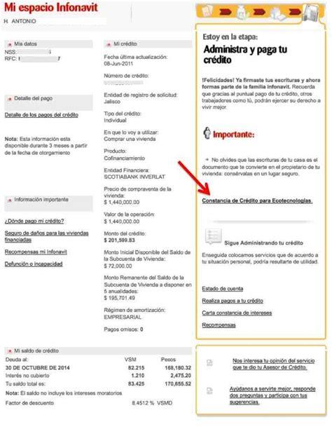 infonavit constancia de impuesto constancia anual de infonavit prestamos para