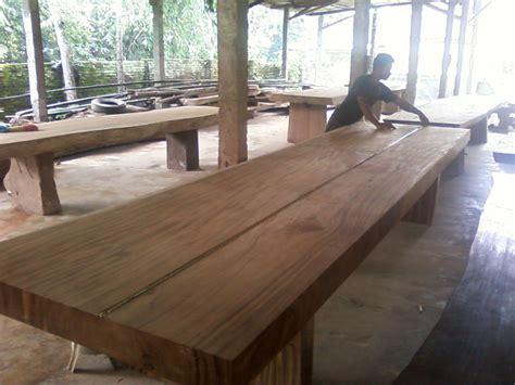 Meja Makan Jati Tebal meja kayu solid jepara jati furniture