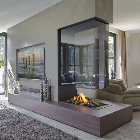 glass enclosed fireplace roomdivider 150 three sided balanced flue gas fireplace