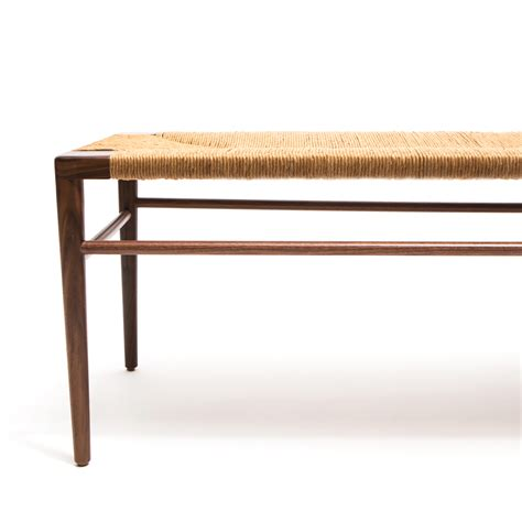 woven bench woven rush bench mel smilow smilow furniture suite ny