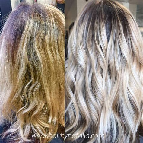 hairstyles for thick dirty hair blonde balayage with smoky shadow root balayage
