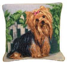 unique yorkie gifts needlepoint terrier pillow and other unique yorkie gifts