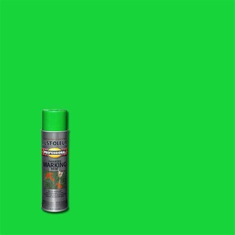 home depot spray paint green rust oleum professional 15 oz flat fluorescent green