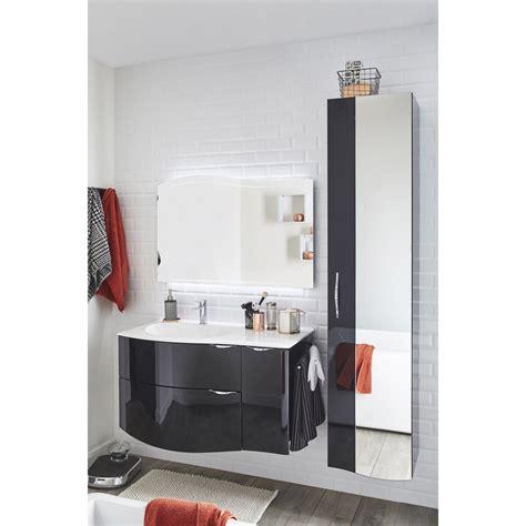 Leroy Merlin Meuble Salle De Bains meuble de salle de bains elegance noir 100 cm leroy merlin
