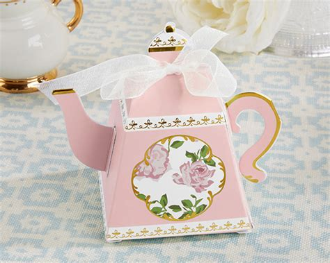 Tea Time Baby Shower by Tea Time Whimsy Teapot Favor Box Pink Set Of 24 Kate