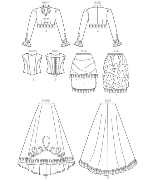 Zipper Bag Frozen Uk A5 by Mccall S Sewing Pattern M6911 Bolero Corset Skirt