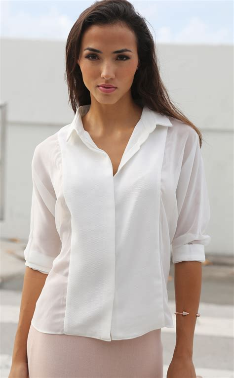 White Blouse white sheer blouses oasis fashion