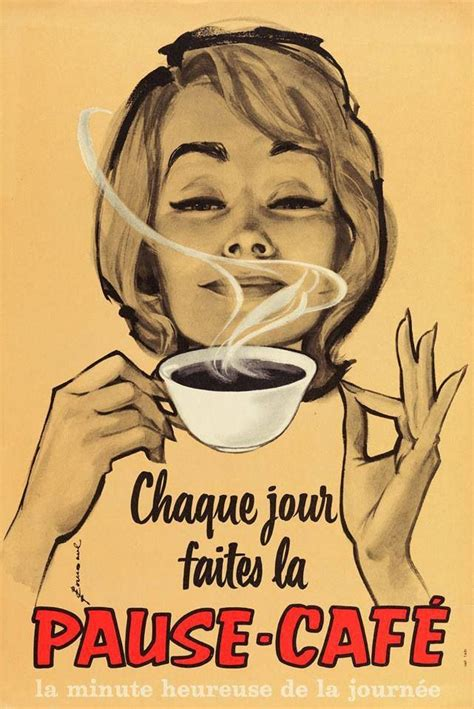 Vintage Coffee Poster   French coffee ad   Coffee addiction   Pinterest   French Coffee, Coffee