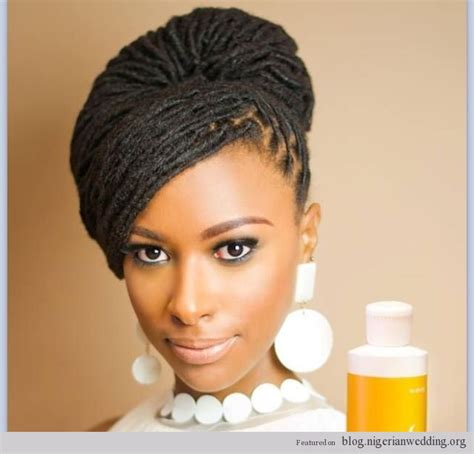 brides on braids for nigeria wedding nigerian wedding dreadlocks bridal hairstyle african