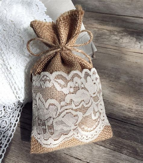 wedding favor burlap bags top 20 country rustic lace and burlap wedding ideas including invitations and favors