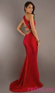 long one shoulder dress evening gowns promgirl