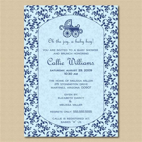 Baby Shower Wording Boy by Baby Invitation Quotes Quotesgram