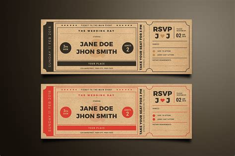 Admission Ticket Invitation Template by Wedding Invitation Ticket Invitation Templates