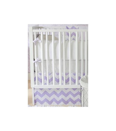 lavender crib bedding sets new arrivals zig zag lavender 4 piece baby crib bedding set