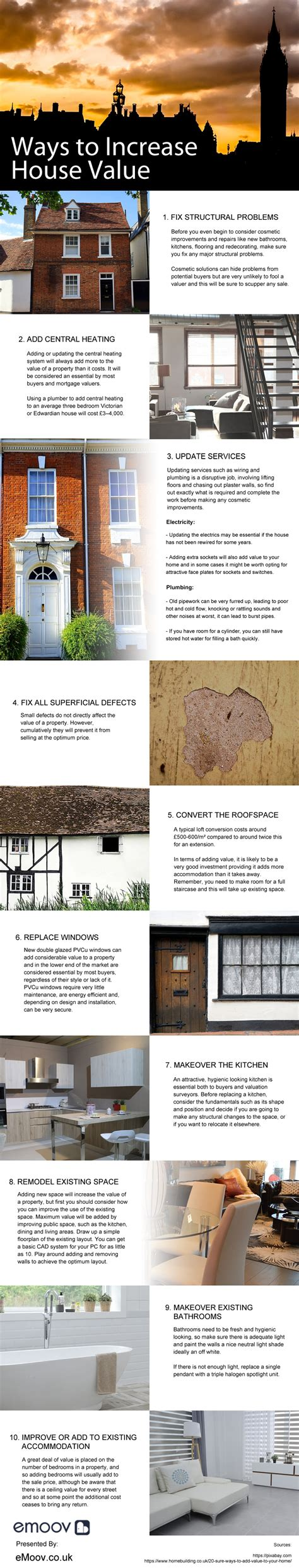 ways to increase house value infographix directory