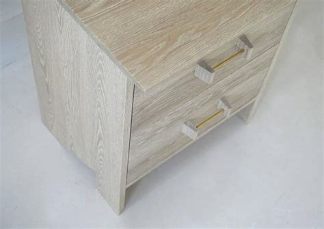 phoebe end table with storage phoebe side cabinet in bleached oak modern handcrafted end
