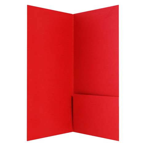 custom printed 4x9 right pocket presentation folder