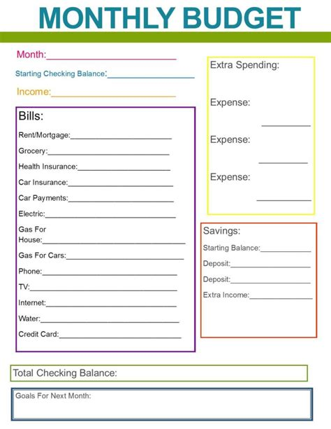 budget list template budget list for bills template and monthly family bud
