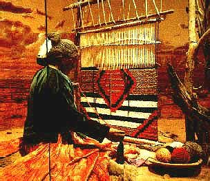 navajo weaving diorama of chief s blanket third phase