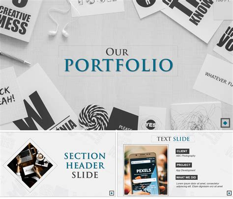 powerpoint portfolio template 7 amazing powerpoint template designs for your company or