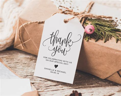 thank you template for wedding gifts 9 thank you gift tags psd vector eps jpg