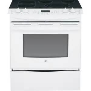 home depot slide in range ge 4 4 cu ft slide in electric range with self cleaning