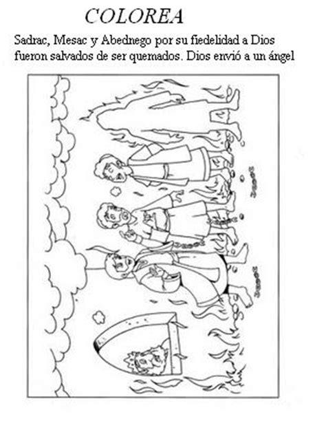 dibujos para colorear sadrac mesac y abednego me aburre la religi 211 n dibujos para colorear sadrac